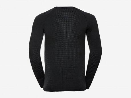 Herren Funktionswäsche BL TOP Crew, black - new odlo graphite grey, L