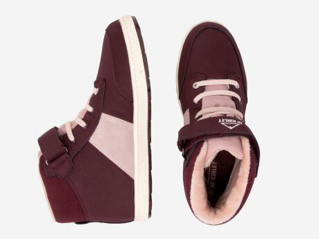 Kinder Sneaker Nelly II AQX, RED WINE/ ROSE DARK, 38