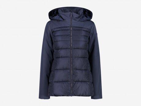 Damen Jacke FIX HOOD, BLACK BLUE, 46