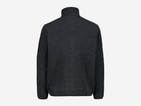 Herren Fleecejacke Jacquard-Knit-Tech, TITANIO, 50