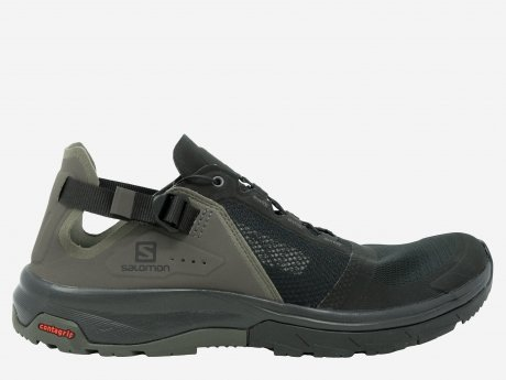 Herren Outdoorschuhe Techamphibian 4, Black-Beluga-Castor Gray, 8