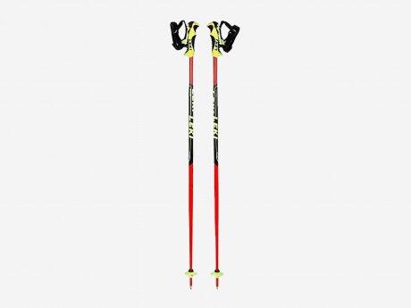 Kinder Skistöcke Skistock Worldcup Lite SL, neonrot/schwarz-weiß-neongelb, 100