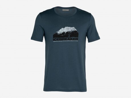 Herren T-Shirt Tech Lite Mountain, SERENE BLUE, M