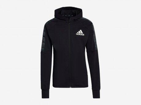 Herren Jacke Aeroready Designed To Move Sport Motion Logo, BLACK/WHITE, L