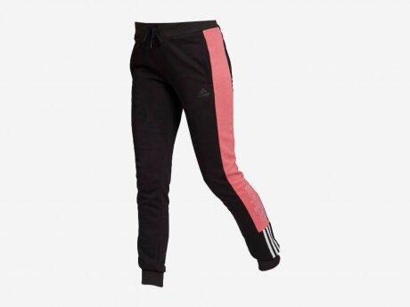 Damen Hose WOMEN ESSENTIALS PANTS, BLACK/WHITE, L