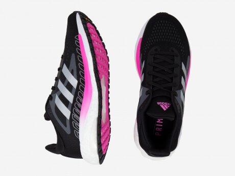 Damen Laufschuhe SOLAR GLIDE, CBLACK/SILVMT/SCRPNK, 7